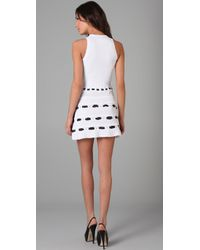 RED Valentino | White V Neck Bow Dress | Lyst