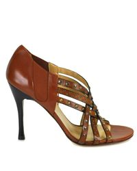 Stuart Weitzman - Brown Fullup - Studded High Heel Sandal - Lyst