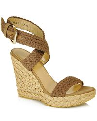 Stuart Weitzman | Green Alex - Swamp Wedge Espadrille | Lyst