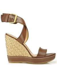 Stuart Weitzman | Brown Xray - Root Leather Wedge Espadrille | Lyst
