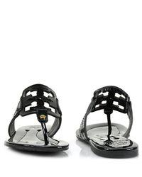 Tory Burch | Square Miller - Black Flat Sandal | Lyst