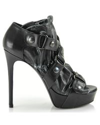 Vera Wang Lavender - Greta - Black Leather Buckle Bootie - Lyst