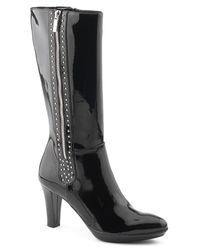 Aquatalia - Ramona - Black Patent Leather Boot - Lyst