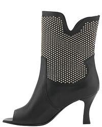 Aquatalia | Zorb - Black Studded Bootie | Lyst