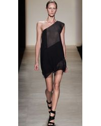 BCBGMAXAZRIA - Black Marike One Shoulder Dress - Lyst