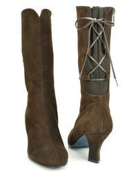 Thierry Rabotin | Farrow - Brown Suede Boot | Lyst
