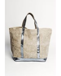 Vanessa Bruno | Natural Grand Canvas Large Linen Tote | Lyst