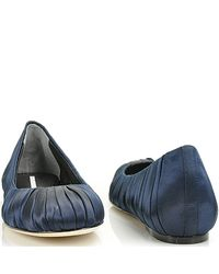 Vera Wang Lavender - Blue Leona - Navy Satin Ballet Flat - Lyst
