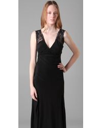 Winter Kate - Black Everclear Silk-crepe and Lace Maxi Dress - Lyst
