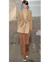 3.1 Phillip Lim | Natural Tie Front Blazer | Lyst