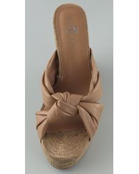 7 For All Mankind - Natural Jayda Knotted Wedge Sandals - Lyst