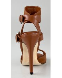 Camilla Skovgaard - Brown Buckle Strap High Heel Sandals - Lyst