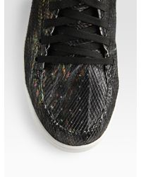Jump | Black Vanquish High-top Sneakers / Scaled Leather for Men | Lyst