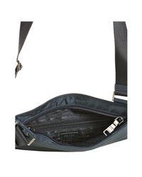 Prada - Denim Blue Nylon Banded Zip Shoulder Bag - Lyst
