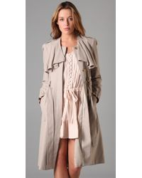 Rebecca Taylor | Natural Ruffle Duster Trench Coat | Lyst