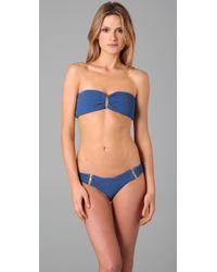 Tori Praver Swimwear - Blue Ami Bikini Top - Lyst