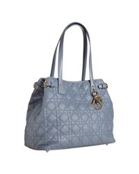 Dior | Blue Jeans Cannage Coated Canvas Panarea Small Tote | Lyst