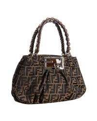 Fendi | Brown Tobacco Zucca Mia Small Chain Bag | Lyst