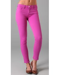 J Brand | Purple Skinny Coloured Jeans Fuschia | Lyst