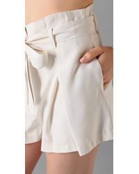 Lover | White Arabesque Bow Shorts | Lyst