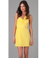 Mara Hoffman | Yellow Twist One Shoulder Dress | Lyst