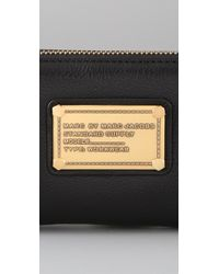 Marc By Marc Jacobs | Black Classic Q Large Zip Around Wallet | Lyst