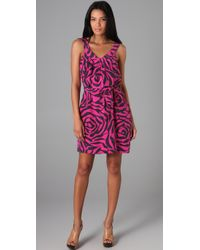 Marc By Marc Jacobs | Purple 10th Year Anniversary Roxy Rose Print Dress | Lyst