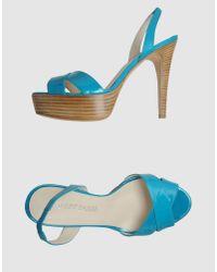 Pierre Darre' | Blue Platform Sandals | Lyst