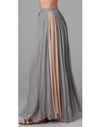Porter Grey | Gray Pleated Long Skirt | Lyst