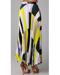 SUNO | Multicolor Pleated Long Skirt | Lyst