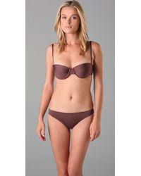 Tibi | Brown Bustier Bikini Top | Lyst