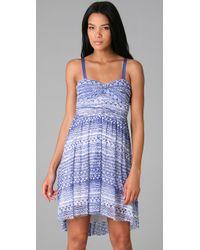 Free People | Blue Watercolor Dress | Lyst