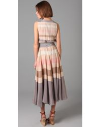 Marc By Marc Jacobs - Brown Simone Stripe Dress - Lyst