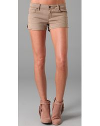 Genetic Denim - Natural The Zz Clean Side Slit Shorts - Lyst
