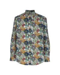 Joe Black - Green Floral Shirt for Men - Lyst