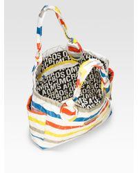 Marc By Marc Jacobs | Multicolor Pretty Nylon Medium Tate Stripe-print Tote | Lyst
