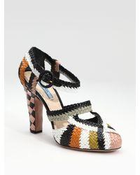 Prada | Multicolor Multi-color Woven Sandals | Lyst