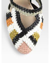 Prada - Multicolor Multi-color Woven Sandals - Lyst