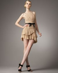 Robert Rodriguez | Natural Lynda Pleated Silk Dress | Lyst
