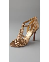 Tory Burch | Metallic Constance High-heeled Sandals | Lyst