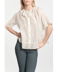 Tsumori Chisato | Natural Cotton Silk S/s Blouse | Lyst
