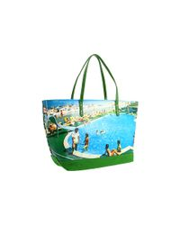 kate spade new york | Multicolor Wish You Were Here Postcard Tote | Lyst