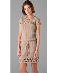 Mike Gonzalez | Natural Crochet Cap Sleeve Dress | Lyst