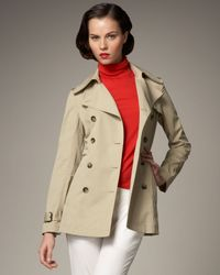 Theory | Natural Adyna Belted Trench Coat | Lyst
