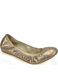 Vera Wang Lavender | Metallic Lillian - Anaconda White Snake Print Ballet Flat | Lyst