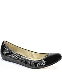 Vera Wang Lavender | Black Lillian Patent Leather Ballet Flats | Lyst
