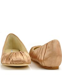 Vera Wang Lavender - Pink Leona - Latte Satin Ballet Flat - Lyst