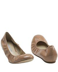 Vera Wang Lavender | Natural Lillian - Latte Patent Ballet Flat | Lyst