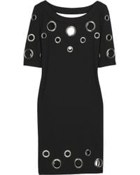 Alice By Temperley - Black Mini Pixie Eyelet Dress - Lyst