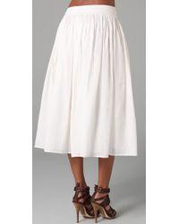 Dallin Chase | White Pio Skirt | Lyst